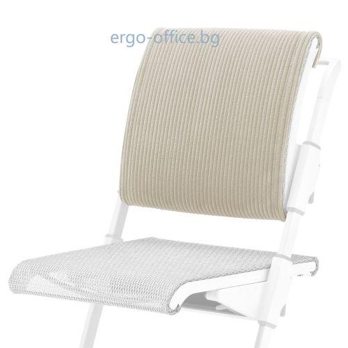 възглавничка за облегалката на стол S6 в бяло