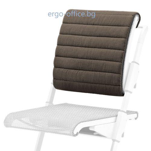 възглавничка за облегалката на стол Unique S6 тъмно кафява