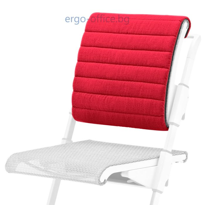 възглавничка за облегалката на стол Unique S6 червена