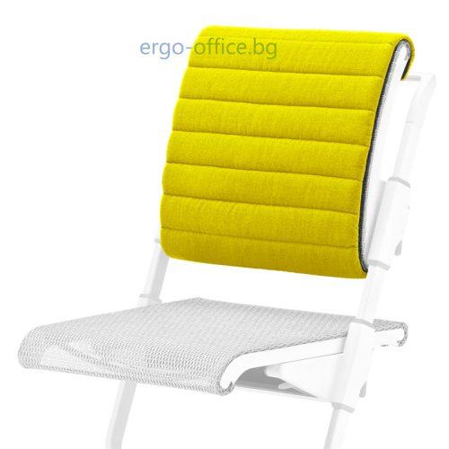 възглавничка за облегалката на стол Unique S6 лимонена