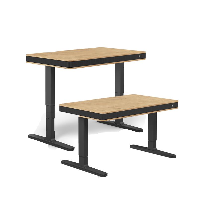 бюро за дома и офиса в стилен дизайн с черно и дърво дъб