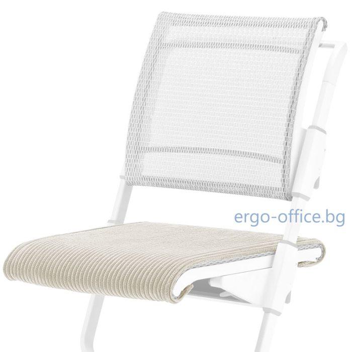 seat cushion moll S6 Ribcord White